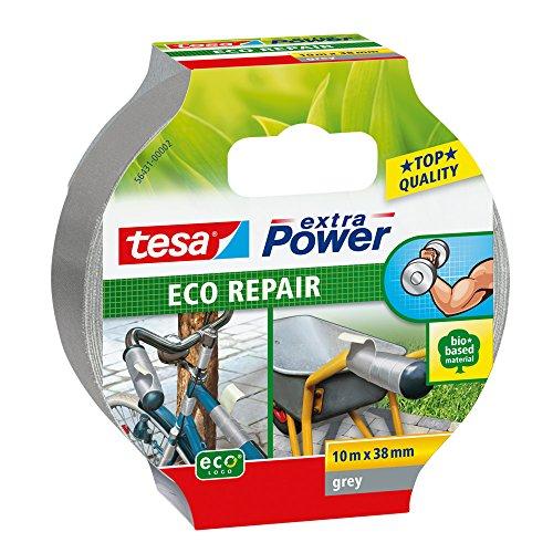 tesa 56431-00002-00 Cinta Adhesiva de Tejido Eco Repair, Gris, 10m x 38mm