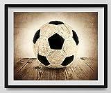 Vintage Soccer Ball on Vintage Background Fine Art Photography Print, Sports Decor, Soccer Nursery decor, Man Cave art, Vintage Sports Nursery Art, Soccer artwork, Soccer Prints, Kids Room Wall Art.