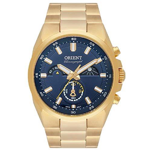 Relógio Orient Masculino Ref: Mgssc032 D1kx Cronógrafo Dourado