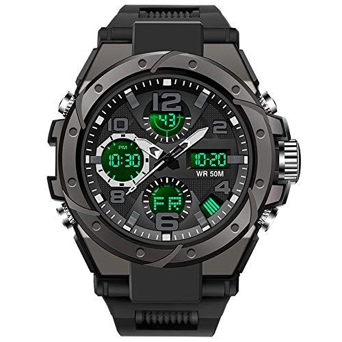 Herren Digitaluhr Militär Sportuhren Tactical Armbanduhr Military Watch Uhr Sportuhr Outdoor Digital 5 ATM Wasserdicht Uhren Männer Stoppuhr Kalender Wecker Countdown Datum