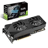 ASUS Dual NVIDIA GeForce RTX 2070 EVO V2 OC Edition Gaming Graphics Card (PCIe 3.0, 8GB GDDR6 memory, HDMI, DisplayPort…