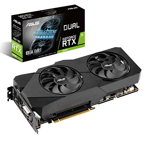 ASUS Dual NVIDIA GeForce RTX 2070 EVO V2 OC Edition Gaming Graphics Card (PCIe 3.0, 8GB...