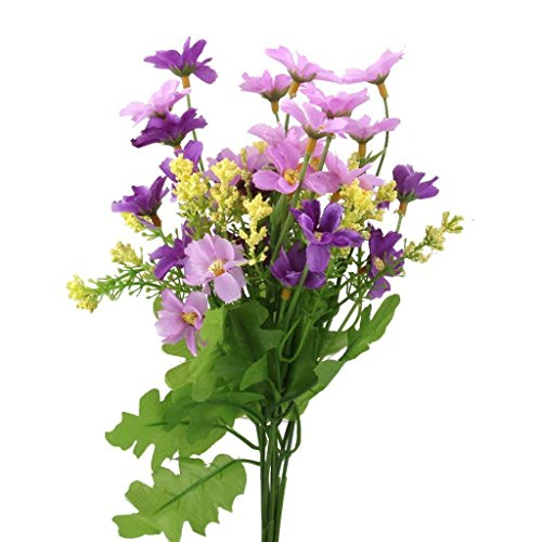 Fliyeong Simulado Artificial Ramo de Flores para Boda Jardín Salón Decoración (1 paquete)