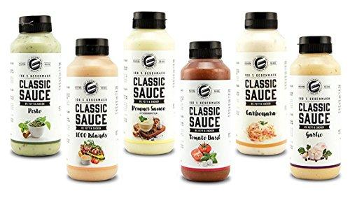 Got7 Classic Sauce Soße Salatsoße Grillsoße Perfekt Zur Diät Abnehmen Fitness Bodybuilding 350ml (1. Mix Box)