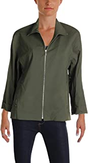 Lafayette 148 New York Womens Ford Fall Utility Bomber Jacket