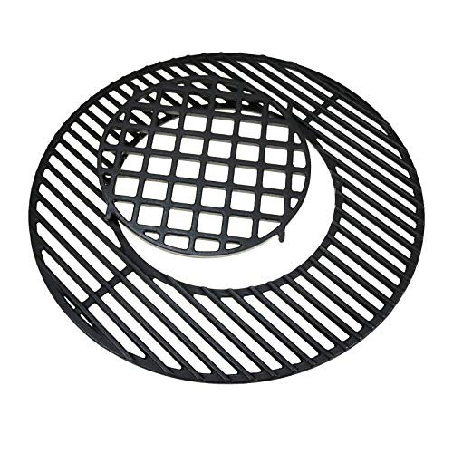 """Uniflasy 8835 22.5 Inch Hinged Cooking Grate for Weber 22.5 Inch One-Touch Silver, Bar-B-Kettle, Master-Touch Performer and Other 22.5"""" Charcoal Grill, 21.5 Inch Diameter Gourmet BBQ System Grate"""