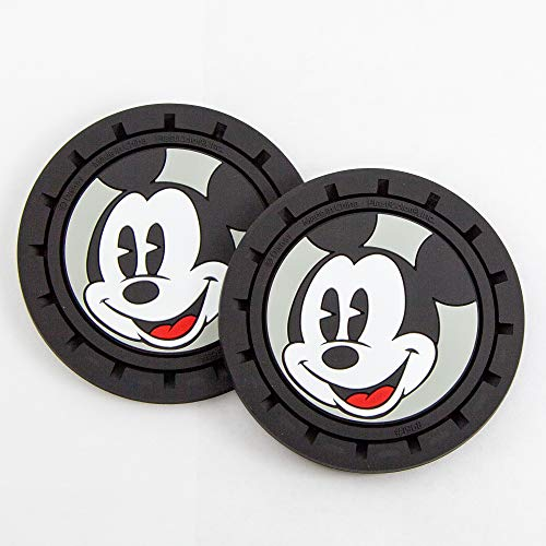 Plasticolor 001968R01 Disney Mickey Mouse 2pc Auto Coasters for Cars Trucks or SUV's