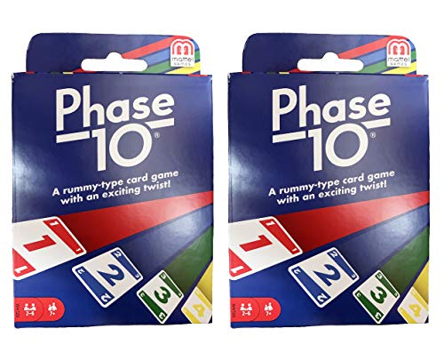 Mattel Phase 10 Card Game - 2 Pack