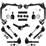 Detroit Axle - 4WD Front Upper Control Arms + Lower Ball Joints + Tie Rods + Sway Bars Kit Replacement for Ford F-150 Expedition Lincoln Navigator - 13pc Set