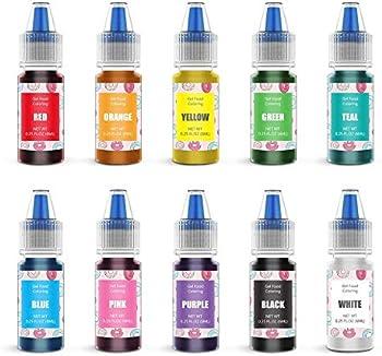 10 Pack Jelife Gel Based Flavorless Edible Food Color