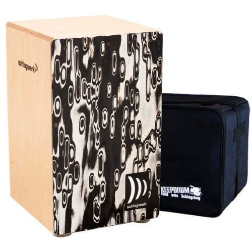 Schlagwerk CP 4017 Cajon la Peru Black Eyes + keepdrum Gig Bag