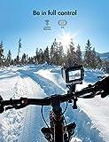 APEMAN Action Cam A79, 4K WiFi Unterwasserkamera Digitale wasserdichte 40M Helmkamera (2.4G Fernbedienung und Webcam mit externem Mikrofon)