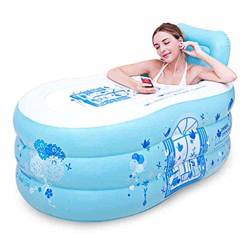 ZH1 kinderbadje, eenvoudig opblaasbaar badkuip voor volwassenen, hoofddubbele van de afzonderlijke verdikte badkuip-zit-lig-bad-vat