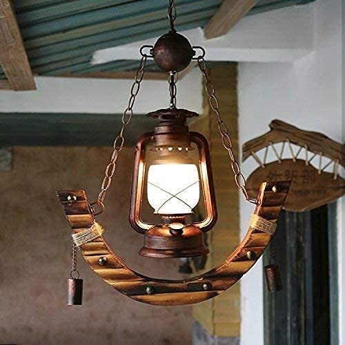 FXBFAG Chandelier Creative Rustic Reservation Bamboo Restaurant Long Beach Mall Cafe Western