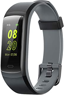 YAMAY Fitness Tracker, Fitness Watch Heart Rate Monitor Activity Tracker,Color Screen Dual-Color Bands IP68 Waterproof,wit...