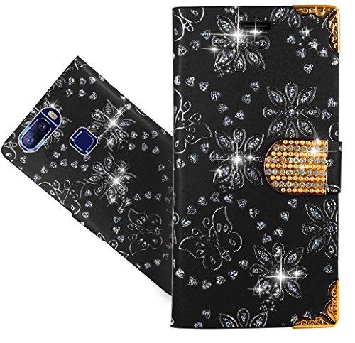 Leagoo S8 Pro Handy Tasche, FoneExpert® Wallet Hülle Cover Bling Diamond Hüllen Etui Hülle Ledertasche Lederhülle Schutzhülle Für Leagoo S8 Pro