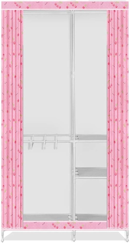 Hai Yan Boutique Cloth Wardrobe Cloth Wardrobe Double Fabric Wardrobe Assembly Storage Clothes Dormitory Simple