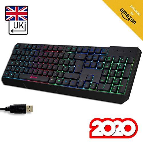 KLIM Chroma Tastatur Gamer mit USB UK