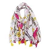 Ecroon Mujer Bufandas Chales Estolas Fulares Mujeres caliente Mantas Pashmina bufanda larga Leopardo Mantón