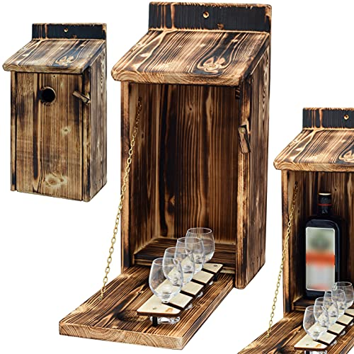 Alcohol Cage® - Holz Vogelhaus mit...