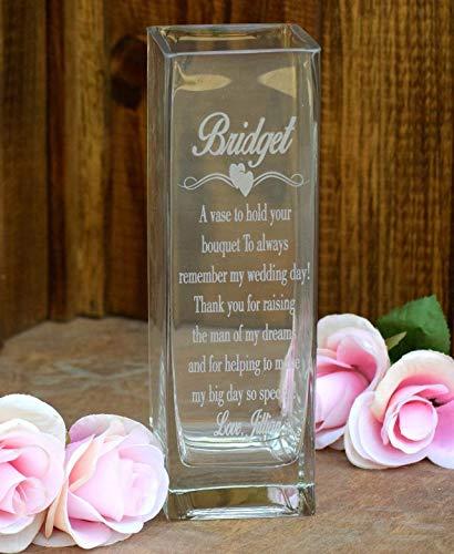 Laser Engraved Glass Vase - Etched Glass Vase Etched Glass -...