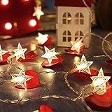 Tira led, GLURIZ Guirnaldas con Luces Decorativas (Estrella) Tira led, GLURIZ Cadena de Luces Estrellas led decorativas, Guirnalda Luces, Guirnaldas Luminosas para Interior, Fiesta de Navidad-Blanco...