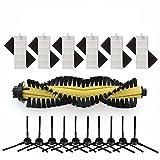 YTT 1 * Cepillo principal + 6 * Filtro HEPA + 6 * Esponja + 10 * Cepillo lateral para ILIFE Robot Aspirador Piezas chuwi ilife a4 A4 T4 X432 X430 X431