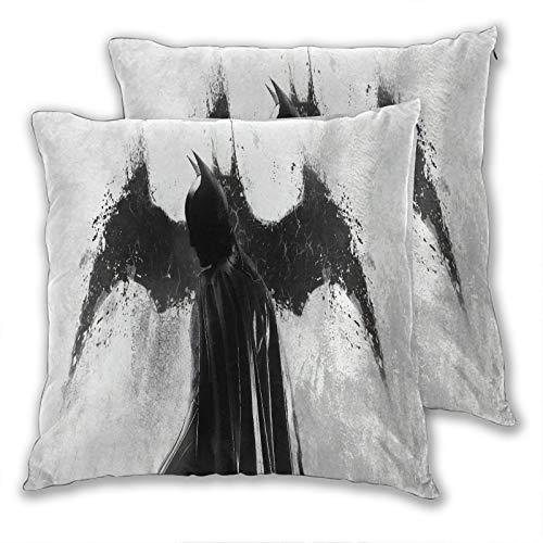 Set di 2 federe per cuscini per divano Batman Concept Art Photo Artistico Comic Animazione Divano Poltrona Throw Waist Federa Casual Home 55 x 55 cm