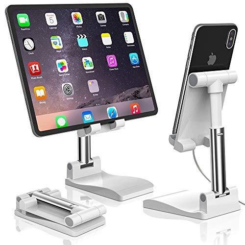 Soporte para Teléfono con Espejo, Senbos Altura Ajustable y Angulo Inclinable, Soporte de Escritorio Universal para Tableta, Compatible con iPhone 12 Mini Pro Max XR X 8 Plus, HUAWEI, Galaxy y más