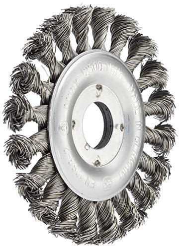 Connex COM233115 Rundbürste gezopft, 115 mm, Bohrung 22 mm, Stahldraht für Winkelschleifer