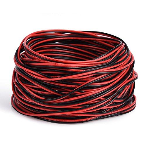 Fil /électrique calibre 10/m Fil /électrique Hookup Rouge Noir Stranded Auto 2/basse tension Fil de cuivre pour seule Couleur LED strip c/âble dextension Cordon Bobine
