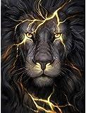 Puzzle per Adulti e Bambini 1500 Pezzi Strong Black Lion Puzzle in Legno Gioco Creativo Casual Giocattolo Jigsaw Gioco educativo