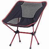 XunLiu Portable Camping Chairs Lightweight Folding Backpacking Chair Backrest Fishing Chair Stool Outdoor Garden Light Beach Leisure Lounge Chair (red)