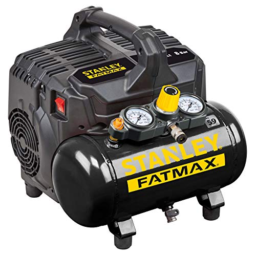 STANLEY FATMAX 101/8/6SI DST 101/8/6 Silent Air Compressor, 100 W, 240 V