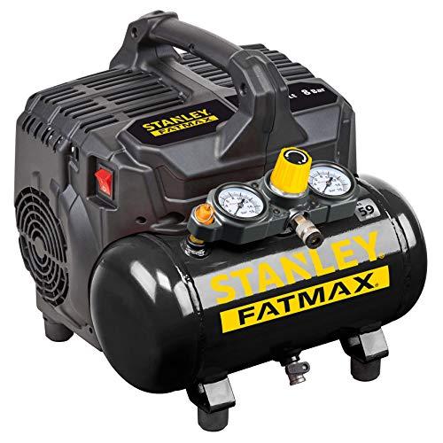 Stanley Fatmax DST 101/8/6 Compresor de Aire Silent Stabley Fatmax, 100 W, 240 V, Negro