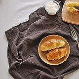 YSJJBTS Cesta Tejida Canasta de ratán Canasta Pétalos Forma Tea Tejida a Mano Bandeja de té de Estilo japonés de algodón de algodón Lino Mesa Trenzada Paño de manteles (Color : B2 Coffee)