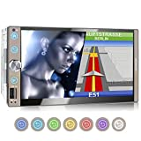 XOMAX XM-2VN767 Autoradio con mirrorlink, navigatore GPS, vivavoce bluetooth, schermo touch screen 7 pollici / 18cm, FM tuner, SD, USB, 2 DIN
