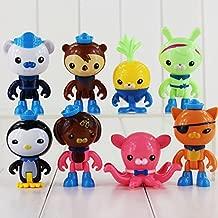 8pcs/lot The Octonauts Action Figure Toy Captain Barnacles Kwazii Cat Peso Penguin Shellington Dashi Professor Mini Model Doll