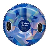 Xino Sports Premium Inflatable Snow Tube, Large 42 inch Diameter Sled, Heavy Duty Design to Provide Hours of Fun, Snow Sledding