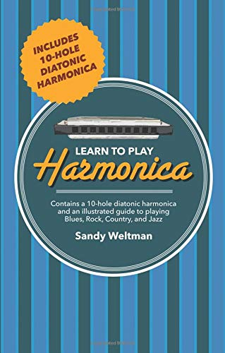 Price comparison product image Learn to Play Harmonica: Contains 10-Hole Diatonic Harmonica and an Illustrated Guide to Play Blues,  Rock,  Country,  and Jazz