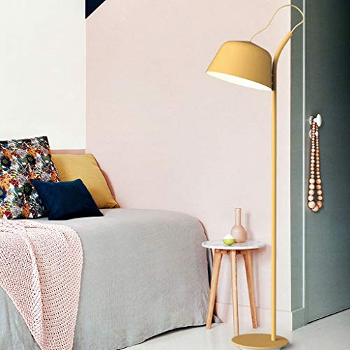 Lampadaires- Macarons de couleur nordique lampadaire moderne minimaliste créative chaleureuse lampe de chevet étude de chevet lampe de table verticale hauteur de lumière 138cm