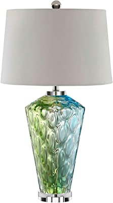 Modern Table Lamp Art Deco Crystal Trophy Off White