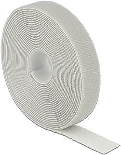 Delock Klittenband klittenband op rol L 5 m x B 20 mm grijs