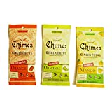 Chimes' Ginger Chews - Variety 3 Pack - Original, Mango, and Orange by CHIMES