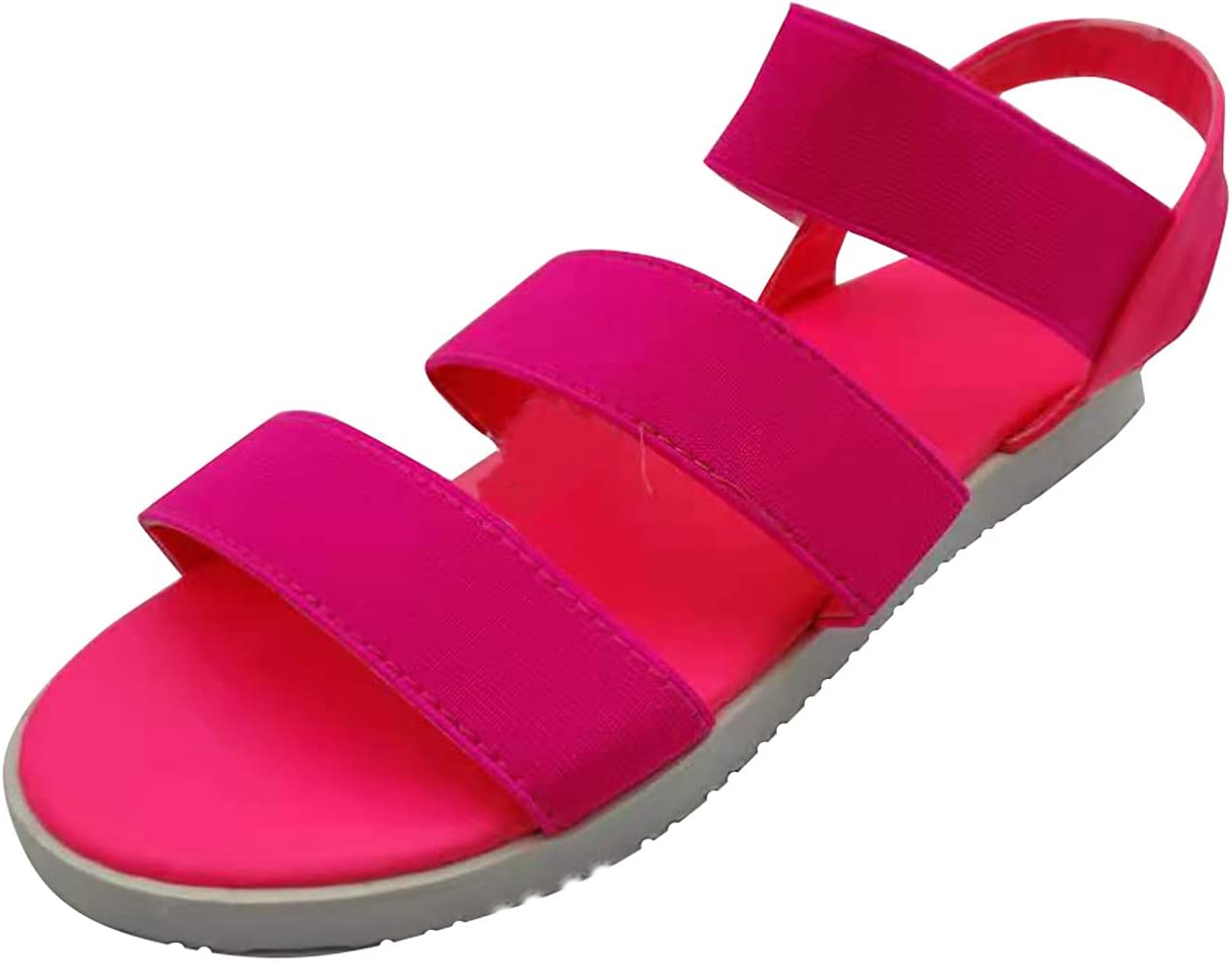 Fragarn Waterproof Hiking Sandals Women Arch Support Sport Sandals Comfortable Walking Water Sandals for Beach Travel Athletic(Pink,9)