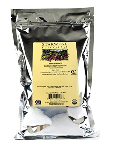 Starwest Botanicals Organic Raw Dandelion Root Tea [1 Pound] Bulk Cut & Sifted (C/S) Loose Tea