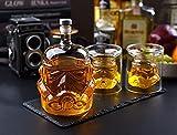 Transparent Creative Whiskey Decanter Set - Stormtrooper Bottle - With 2 Glass - for Wine, Brandy, Scotch, Vodka, Liquor-750ml