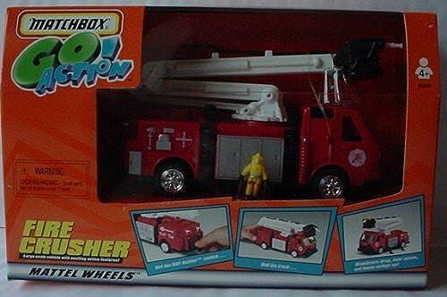 MATCHBOX Go Action  FIRE CRUSHER Firetruck by Matchbox