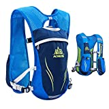 Azarxis ハイドレーションバッグ ランニングバッグパック トレイルリュック 5.5L 軽量 防水 通気 サイクリング マラソン 登山 水分補給