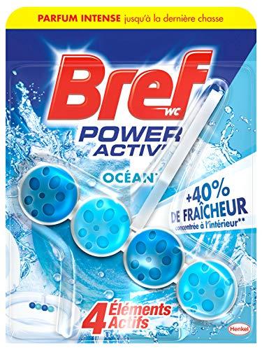 Bref WC Power Activ' Ocean – 1 Bloc WC (50g) – Produit Nettoyant WC – Détartrant toilettes